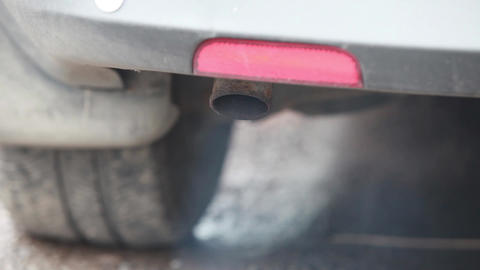 Car  Exhaust  Pipe  stock footage