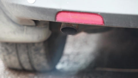 Car exhaust pipe Stock Video Footage
