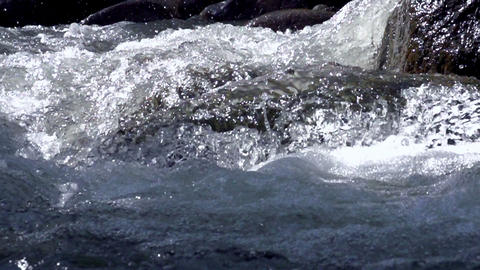 Raging Mountain River Stock Video Footage