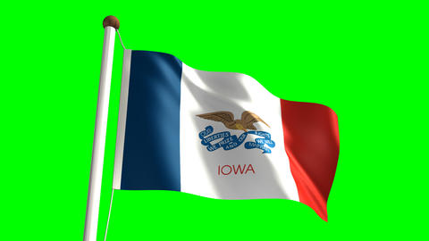 Iowa flag Stock Video Footage