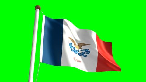 Iowa flag Animation