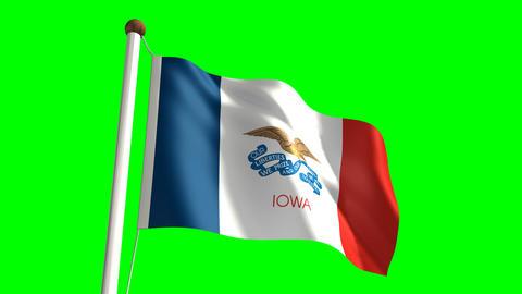 Iowa flag Stock Video Footage