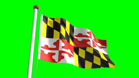 Maryland flag Animation