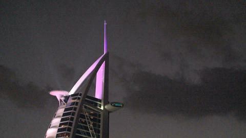 Burj al Arab hotel, Dubai Stock Video Footage