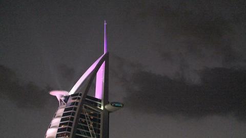 Burj al Arab hotel, Dubai Stock Video Footage