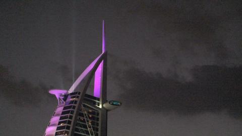 Burj Al Arab Hotel, Dubai stock footage