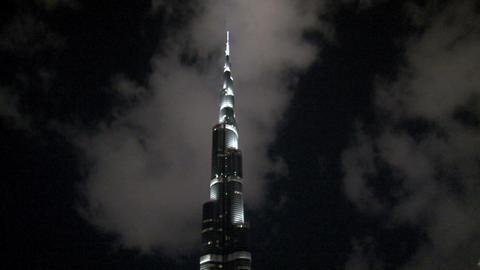 Burj Khalifa time lapse Stock Video Footage