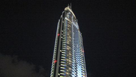 Tilt skyscraper downtown Dubai Stock Video Footage
