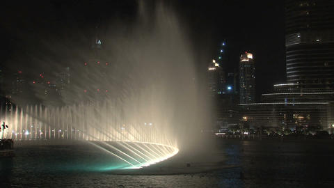 The Dubai Fountain with music Stock Video Footage