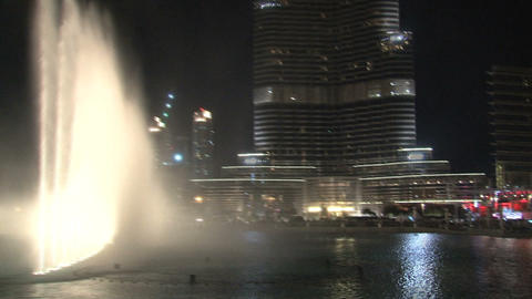 The Dubai Fountain with music Footage