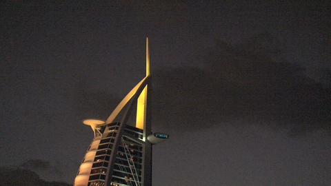 Burj al Arab hotel zoom out Stock Video Footage