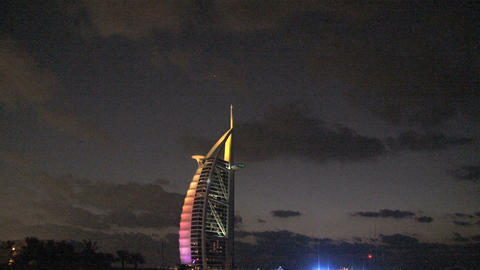 Burj al Arab hotel zoom out Footage