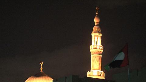 Dubai Mosque Stock Video Footage