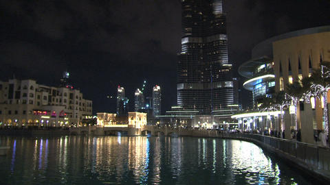 Burj khalifa tilt Stock Video Footage