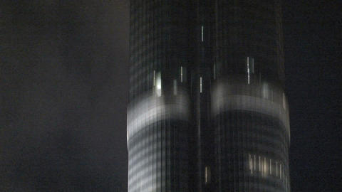 Burj khalifa tilt to the top Footage