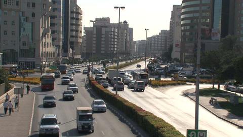 Dubai traffic downtown Live Action