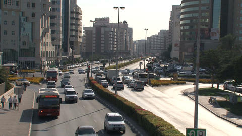 Dubai traffic downtown Stock Video Footage