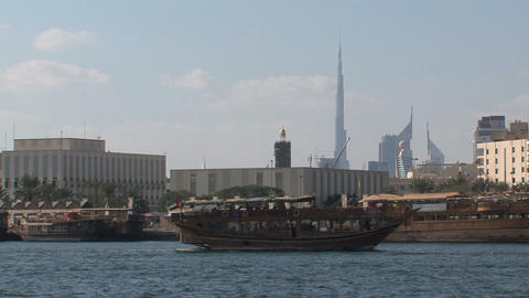 Cruise ship and Burj Khalifa Footage