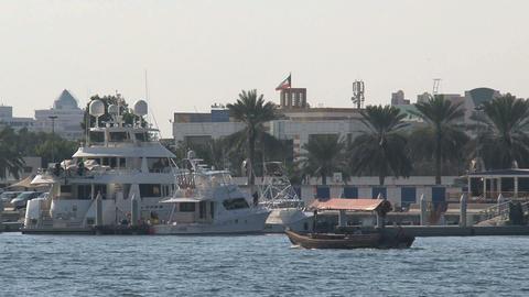 Ferry in Dubai harbor Footage