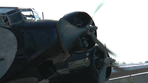 Historic Airplane Ju52 closeup Stock Video Footage