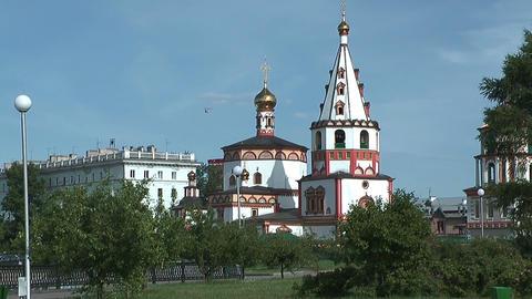 Epiphany Cathedral , Irkutsk Stock Video Footage