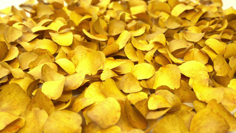 Heap of Potato chips falling down or dropping Stock Video Footage