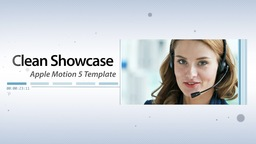 Clean Showcase - Apple Motion and Final Cut Pro X Template Apple Motion Project