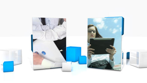 Dual Cubes Presentation - Apple Motion and Final Cut Pro X Template Apple Motion Template