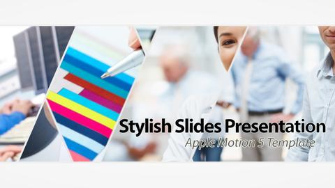 Stylish Slides Presentation - Apple Motion and Final Cut Pro X Template Apple Motion Template