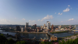 Pittsburgh Skyline Time Lapse Stock Video Footage