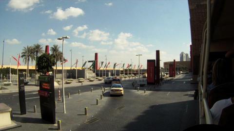 Dubai bus tour time lapse Stock Video Footage