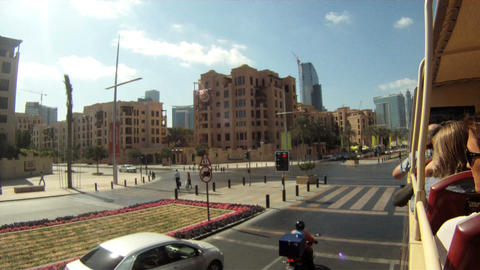 Dubai Bus Tour Time Lapse stock footage