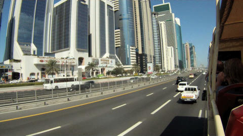 Dubai bustour time lapse Stock Video Footage