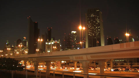 Dubai city traffic time lapse Stock Video Footage