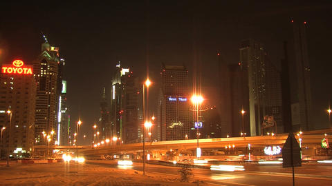 Dubai traffic time lapse Footage