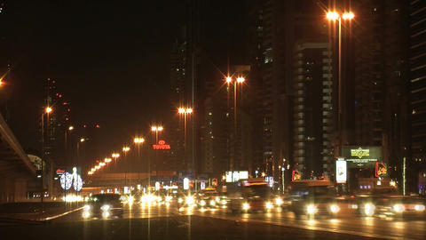 Dubai traffic time lapse Stock Video Footage