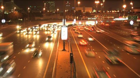 Dubai traffic time lapse Stock Video Footage