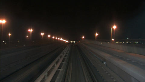 Metro train Dubai Stock Video Footage