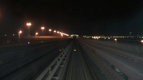 Metro train Dubai Stock Video Footage