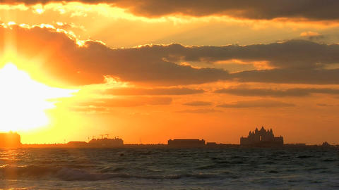 Sunset Dubai time lapse Stock Video Footage