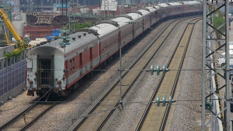 train slowly passing,intercity traffic in china Stock Video Footage