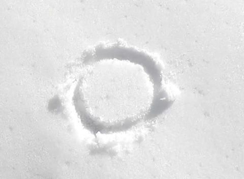 snow paint circle Stock Video Footage