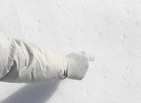 snow paint three Stock Video Footage