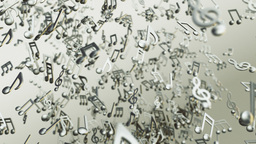 Music notes looping background Stock Video Footage