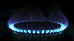 Kitchen gas stove Stock Video Footage