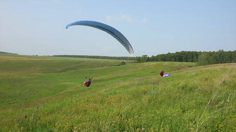 Paragliding Stock Video Footage