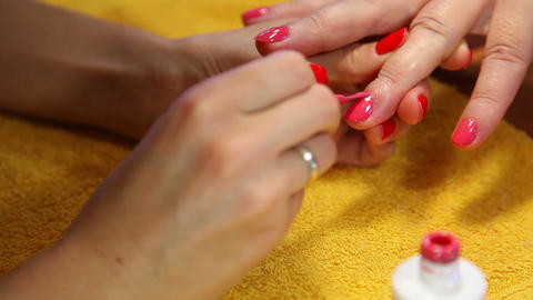 Manicure Stock Video Footage