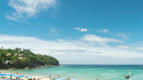 A day at Phuket beach Stock Video Footage