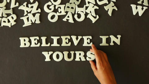 Believe in yourself Stock Video Footage