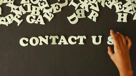 Contact Us Stock Video Footage